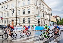 Jon Ander Insausti Irastorza (ESP) of Bahrain-Merida, Marco Frapporti (ITA) of Androni-Sidermec-Bottecchia in Ljubljana during Stage 2 of 24th Tour of Slovenia 2017 / Tour de Slovenie from Ljubljana to Ljubljana (169,9 km) cycling race on June 16, 2017 in Slovenia. Photo by Vid Ponikvar / Sportida