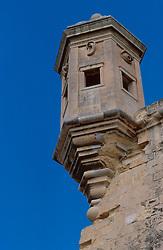 MALTA VALETTA JUL00 - An ancient watchtower is part of  the fortifications of the port of Valetta.....jre/Photo by Jiri Rezac....© Jiri Rezac 2000....Tel:   +44 (0) 7050 110 417..Email: info@jirirezac.com..Web:   www.jirirezac.com