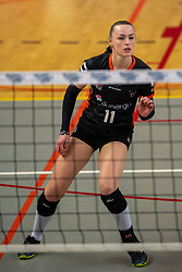 02-02-2019 NED: Regio Zwolle Volleybal - Sliedrecht Sport, Zwolle<br /> Round 16 of Eredivisie volleyball - Sliedrecht win the match 3-2 / Kelly van de Haar #11 of Zwolle