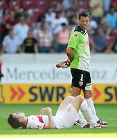 FUSSBALL   1. BUNDESLIGA  SAISON 2011/2012   3. Spieltag     20.08.2011 VfB Stuttgart - Bayer Leverkusen        Enttaeuschung VfB, William Kvist (VfB Stuttgart,li) und Torwart Sven Ulreich (VfB Stuttgart,re)