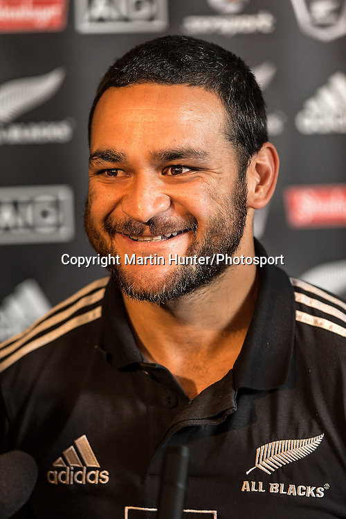 Piri Weepu of the All Blacks at the naming of the second test starting fifteen ahead of the Steinlager Test Series versus France. George Hotel, Christchurch, New Zealand. Thursday 13 June 2013. Photo: Martin Hunter/Photosport.co.nz