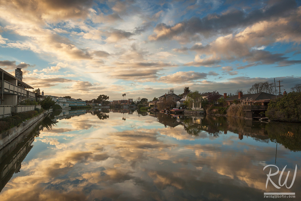 South Shore Lagoon Sunset, Alameda, California