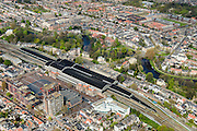 Nederland, Noord-Holland, Haarlem, 09-04-2014; Station Haarlem en omgeving, <br /> Railway station.<br /> luchtfoto (toeslag op standard tarieven);<br /> aerial photo (additional fee required);<br /> copyright foto/photo Siebe Swart