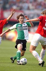 01-06-2003 NED: Amstelcup finale FC Utrecht - Feyenoord, Rotterdam<br /> FC Utrecht pakt de beker door Feyenoord met 4-1 te verslaan / Song Chong-Gug
