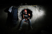 Rick in his &quot;bedroom&quot;, literally a hole in the wall in the drainage system underneath the Mandalay Bay Casino<br /> <br /> Sin City is the ultimate amusement park for adults. For some unlucky few, Vegas is anything but fun. They live in the storm drains right underneath The Strip. <br /> Did this story together with brilliant journalist @randifuglehaug in February 2011.