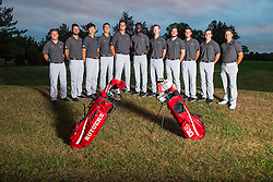 The Rutgers Scarlet Knights men's golf team photo on Wednesday, September 8, 2016.<br /> (Ben Solomon/Rutgers Athletics)`