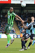 Tom Elliott forward for AFC Wimbledon (9) during the Sky Bet League 2 match between Wycombe Wanderers and AFC Wimbledon at Adams Park, High Wycombe, England on 2 April 2016. Photo by Stuart Butcher.
