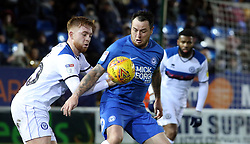 Lee Tomlin of Peterborough United in action with Callum Camps of Rochdale - Mandatory by-line: Joe Dent/JMP - 12/01/2019 - FOOTBALL - ABAX Stadium - Peterborough, England - Peterborough United v Rochdale - Sky Bet League One