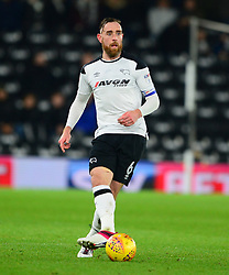 DERBY COUNTY RICHARD KEOGH, Derby County v Leeds United, Championship League Pride Park Tuesday 21st February 2018, Score 2-2, :Photo Mike Capps