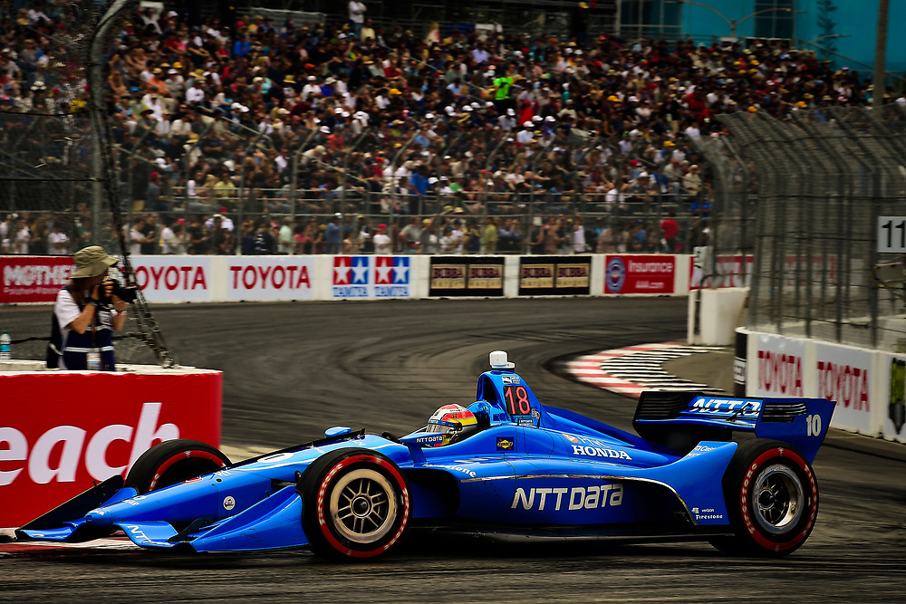 Ed Jones, Chip Ganassi Racing Honda<br /> Sunday 15 April 2018<br /> Toyota Grand Prix of Long Beach<br /> Verizon IndyCar Series<br /> Streets of Long Beach, California USA<br /> World Copyright: Scott R LePage<br /> LAT Images