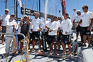 FRANCE, Marseille. 19th June 2011.The crew of TP52, CONTAINER celebrate winning the AUDI MedCup Marseille Trophy.