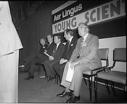 07/01/1977.01/07/1977.7th January 1977.The Aer Lingus Young Scientist Exhibition at the RDS Dublin. ..Picture shows Justin Keating, T.D., Minister for Industry and Commerce (centre).