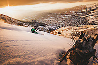"Dimitri Littig ""DimO"" finds excellent powder in the foothills above Salt Lake City."