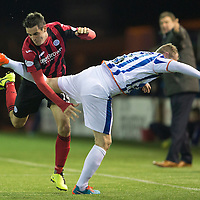 Kilmarnock v St Johnstone...06.12.14   SPFL<br /> Brian Graham and Mark Connolly get all tangled up<br /> Picture by Graeme Hart.<br /> Copyright Perthshire Picture Agency<br /> Tel: 01738 623350  Mobile: 07990 594431