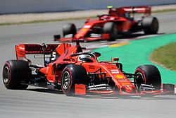 May 12, 2019 - Barcelona, Catalonia, Spain - Ferrari of Sebastian Vettel during the GP Spain Formula 1, on 12th May 2019, Barcelona, Spain. (Credit Image: © Joan Valls/NurPhoto via ZUMA Press)