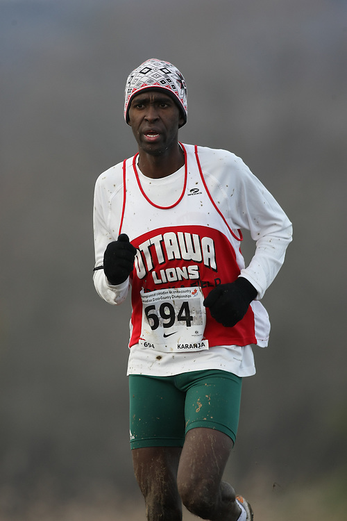 Guelph, Ontario ---29/11/08---  JOSHUA KARANJA competes in the senior men's race at the 2008 AGSI Canadian Cross Country Championships in Guelph, Ontario, November 29, 2008..Sean Burges Mundo Sport Images