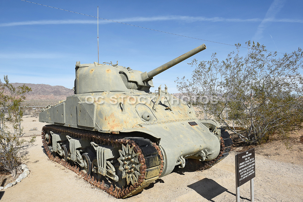 M4a4 Sherman Tank on Display at the General Patton Memorial Museum