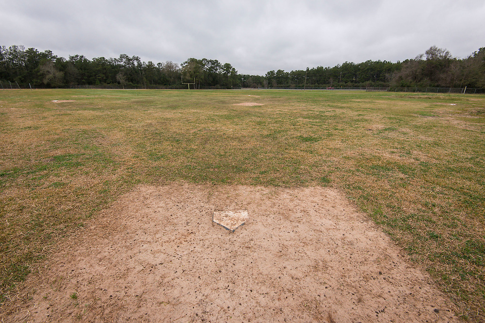 Site of proposed softball field at North Forest High School, February 23, 2015.