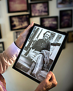 OLIVER, GA - DEC., 15, 2016: Lynda Beam  holds a photography of her mother taken in the 1950 at TooHolly farm, Thursday, December 15, 2016, in Oliver, Ga. (Photo by Stephen B. Morton for Georgia Forestry Magazine)