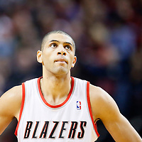 06 December 2013: Portland Trail Blazers small forward Nicolas Batum (88) rests during the Portland Trail Blazers 130-98 victory over the Utah Jazz at the Moda Center, Portland, Oregon, USA.