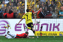14.05.2011, Signal Iduna Park, Dortmund, GER, 1.FBL, Borussia Dortmund vs Eintracht Frankfurt, im Bild Robert Lewandowski (Dortmund #7) trifft zum 2-1 //  during the German 1.Liga Football Match,  Borussia Dortmund vs Eintracht Frankfurt, at the Signal Iduna Park, Dortmund, 14/05/2011 . EXPA Pictures © 2011, PhotoCredit: EXPA/ nph/  Conny Kurth       ****** out of GER / SWE / CRO  / BEL ******