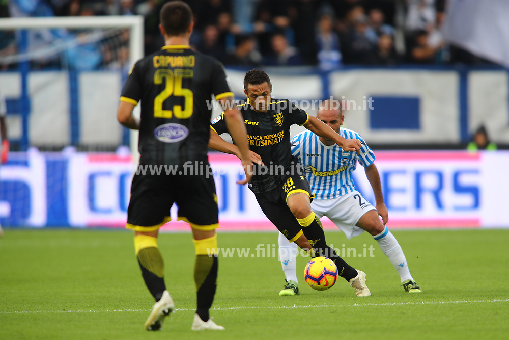 "Foto Filippo Rubin<br /> 28/10/2018 Ferrara (Italia)<br /> Sport Calcio<br /> Spal - Frosinone - Campionato di calcio Serie A 2018/2019 - Stadio ""Paolo Mazza""<br /> Nella foto: CAMILLO CIANO (FROSINONE)<br /> <br /> Photo Filippo Rubin<br /> October 28, 2018 Ferrara (Italy)<br /> Sport Soccer<br /> Spal vs Frosinone - Italian Football Championship League A 2018/2019 - ""Paolo Mazza"" Stadium <br /> In the pic: CAMILLO CIANO (FROSINONE)"