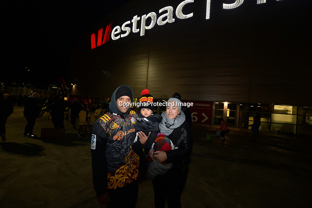 Fans at the concourse during the Super Rugby match between Hurricanes v Chiefs, Westpac Stadium, Wellington, Friday 13th April 2018. Copyright Photo: Raghavan Venugopal / www.photosport.nz