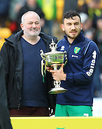 Robert Snodgrass of Norwich receives the Barry Butler trophy for Player Of The Year before the Barclays Premier League match at Carrow Road, Norwich<br /> Picture by Paul Chesterton/Focus Images Ltd +44 7904 640267<br /> 11/05/2014