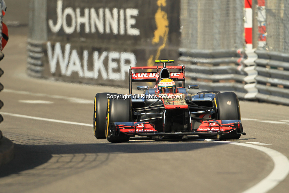 24.05.2012.Monte Carlo, Monaco.  Monte carlo Formula One Grand Prix. Lewis Hamilton during practice 1 on Thursday morning