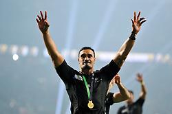 Jerome Kaino of New Zealand celebrates after the match - Mandatory byline: Patrick Khachfe/JMP - 07966 386802 - 31/10/2015 - RUGBY UNION - Twickenham Stadium - London, England - New Zealand v Australia - Rugby World Cup 2015 Final.