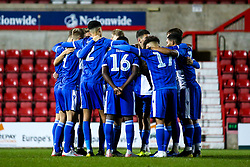 Bristol Rovers Under 18s huddle - Mandatory by-line: Robbie Stephenson/JMP - 29/10/2019 - FOOTBALL - County Ground - Swindon, England - Swindon Town v Bristol Rovers - FA Youth Cup Round One
