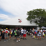 August 16, 2014, New Haven, CT:<br /> Fans line up at the food court during Kids Day on day three of the 2014 Connecticut Open at the Yale University Tennis Center in New Haven, Connecticut Sunday, August 17, 2014.<br /> (Photo by Billie Weiss/Connecticut Open)