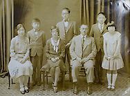 A photo of Grace Amemiya's family from 1930. The portrait was taken in Vacaville, California when Grace (on right) was 10 years old...This picture was shot at Collegiate Presbyterian Church, 159 Sheldon Ave, in Ames, Iowa on Thursday, March 29, 2012. (Stephen Mally/Freelance)