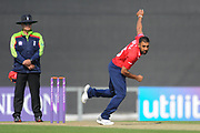 Ravi Bopara of Essex bowling during the Royal London One Day Cup match between Hampshire County Cricket Club and Essex County Cricket Club at the Ageas Bowl, Southampton, United Kingdom on 23 May 2018. Picture by Dave Vokes.