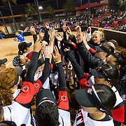 15 February 2018: The San Diego State softball team hosts #25 Kentucky to open up the 28th annual Campbell/Cartier Classic. The Aztecs lost to the Wildcats 5-0.<br /> More game action at www.sdsuaztecphotos.com