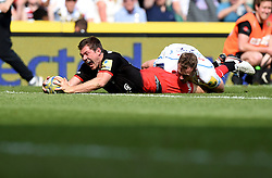 Saracens full back Alex Goode scores a late try to seal victory for Saracens  - Mandatory by-line: Joe Meredith/JMP - 28/05/2016 - RUGBY - Twickenham - London, England - Saracens v Exeter Chiefs - Aviva Premiership Final