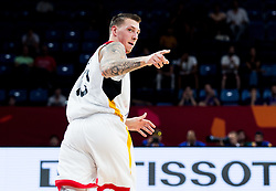 Daniel Theis of Germany reacts during basketball match between National Teams of Germany and France at Day 10 in Round of 16 of the FIBA EuroBasket 2017 at Sinan Erdem Dome in Istanbul, Turkey on September 9, 2017. Photo by Vid Ponikvar / Sportida