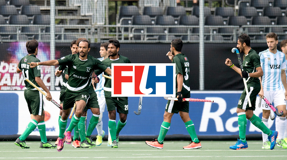 BREDA - Rabobank Hockey Champions Trophy<br /> Argentina - Pakistan<br /> Photo: Pakistan celebrate the 0-1.<br /> COPYRIGHT WORLDSPORTPICS FRANK UIJLENBROEK