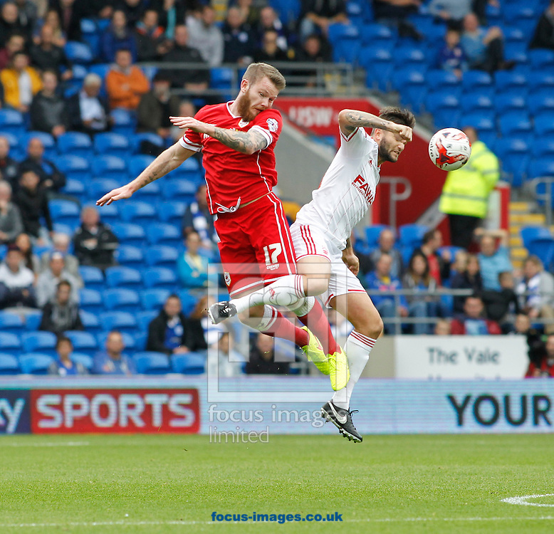 Aron Gunnarsson of Cardiff City during the Sky Bet Championship match at the Cardiff City Stadium, Cardiff<br /> Picture by Mike  Griffiths/Focus Images Ltd +44 7766 223933<br /> 18/10/2014