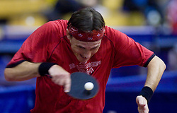 Jean-Michel Saive of Belgium at 10th Slovenian Open Table Tennis Championships - Pro Tour Velenje Slovenian Open tournament, in Round 1, on January 15, 2009, in Red sports hall, Velenje, Slovenia. (Photo by Vid Ponikvar / Sportida)