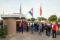 LIENDEN - 21-09-2016, FC Lienden - AZ, Sportpark de Abdijhof, entree, supporters.