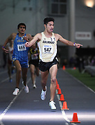 Feb 25, 2017; Seattle, WA, USA; Eduardo Herrera of Colorado wins 3,000m heat in 8:04.96 during the MPSF Indoor Championships at the Dempsey Indoor.