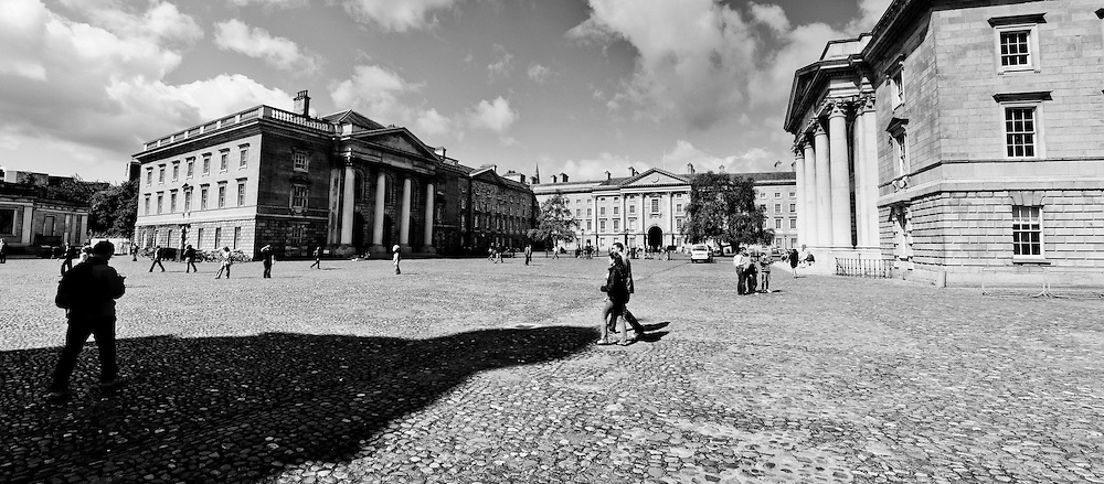 A panorama of the grounds of Trinity College, Dublin City, Ireland