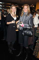 Left to right, AMBER HALES and SAM SOPWITH at the 1st Baglioni Hotel's Designer Lunch featuring designs by Amanda Wakelel held at The Baglioni Hotel, 60 Hyde Park gate, London on 1st February 2006.<br /><br />NON EXCLUSIVE - WORLD RIGHTS