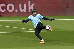 16 September 2017 -  Premier League - Watford v Manchester City - Manchester City goalkeeper Ederson wearing  protective head gear - Photo: Marc Atkins/Offside