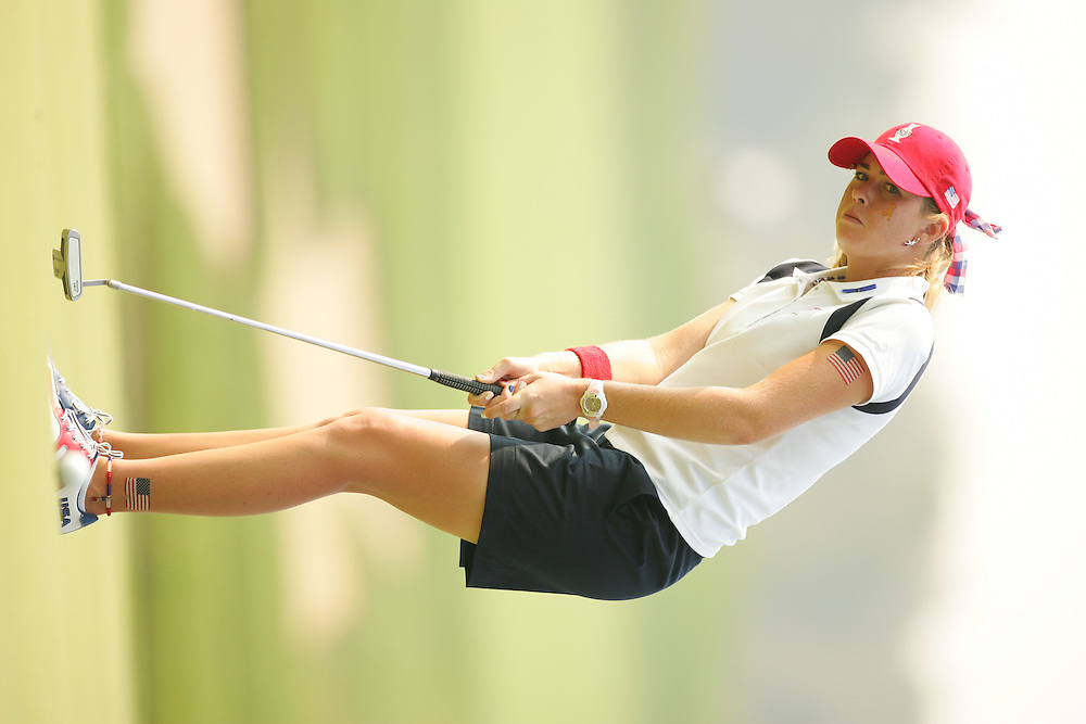 Paula Creamer<br />2005 Solheim Cup<br />Crooked Stick GC<br />Carmel, IN<br />Sunday Singles matches<br />Sunday, September 11 2005<br />09-11-05<br />photograph by Darren Carroll