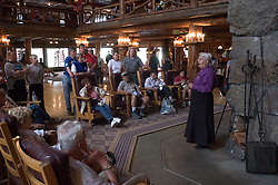 WY: Wyoming; Yellowstone National Park:.At Old Faithful Inn..Photo #: yellow1158..Photo copyright Lee Foster, 510/549-2202, lee@fostertravel.com, www.fostertravel.com..