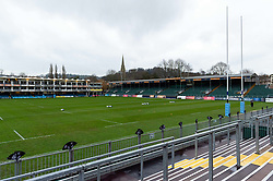 A general view of the Recreation Ground pitch - Mandatory byline: Patrick Khachfe/JMP - 07966 386802 - 28/12/2019 - RUGBY UNION - The Recreation Ground - Bath, England - Bath Rugby v Sale Sharks - Gallagher Premiership