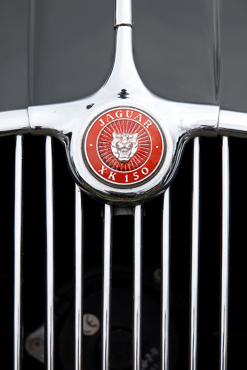 Aug 2013 Hebden Bridge - Calder Holmes Park . Classic and Vintage cars - Marques and logos and details