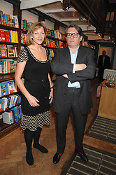 ROSE PRINCE and her husband DOMINIC PRINCE at a party to celebrate the publication of The New English Table by Rose Prince held at The Daunt Bookshop, Marylebone High Street, London on 9th April 2007.<br />